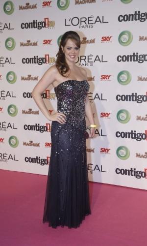 13.mai.2013 - Marisa Marchetti posa para foto ao chegar no 15º Prêmio Contigo!, no Copacabana Palace, no Rio de Janeiro