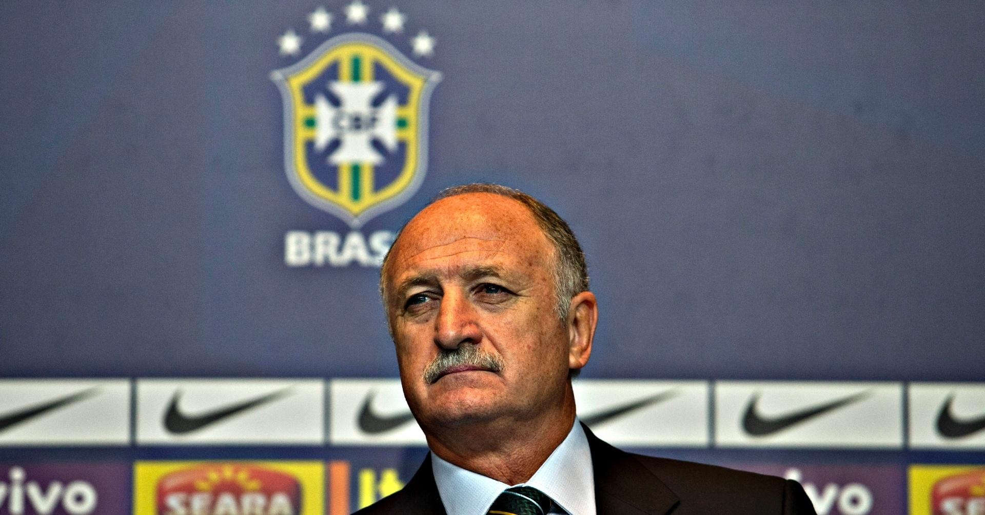 14.mai.2013 - Luiz Felipe Scolari durante a coletiva em que anunciou os convocados para a Copa das Confederações