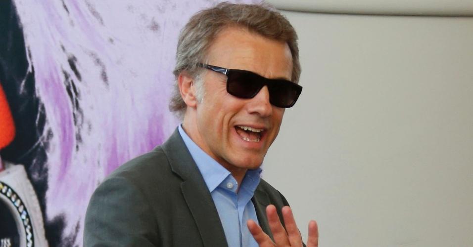 14.mai.2013 - Membro do júri do Festival de Cannes, ator Christoph Waltz chega ao Grand Hyatt Cannes Hotel Martinez