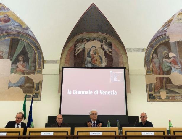 Diretores da Bienal de Veneza divulgam calendário do evento em Roma - Domenico Stinellis/AP