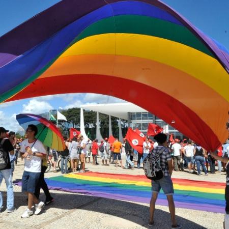 Marcha contra a Homofobia em Brasília - Antonio Cruz/Agência Brasil