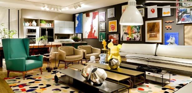 As designers de interiores Fatima Mesquita, Márcia Albieri e Regina Amaral assinam o Loft 54, de 100 m² - Edgar César/Divulgação