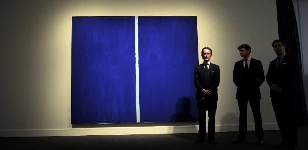 """O quadro """"Onement VI"""", de Barnett Newman - Emmanuel Dunand/AFP"""