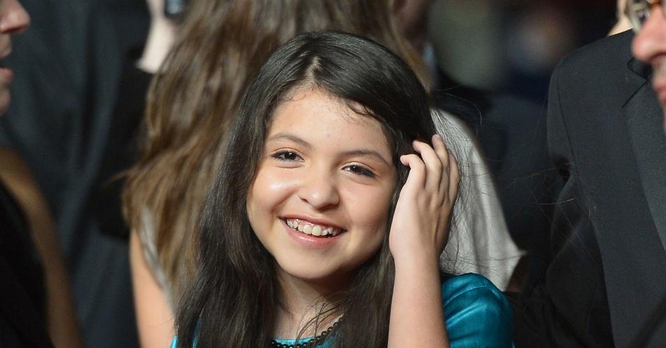 16.mai.2013 - A atriz mexicana Andrea Vergara chega para a apresentação do filme