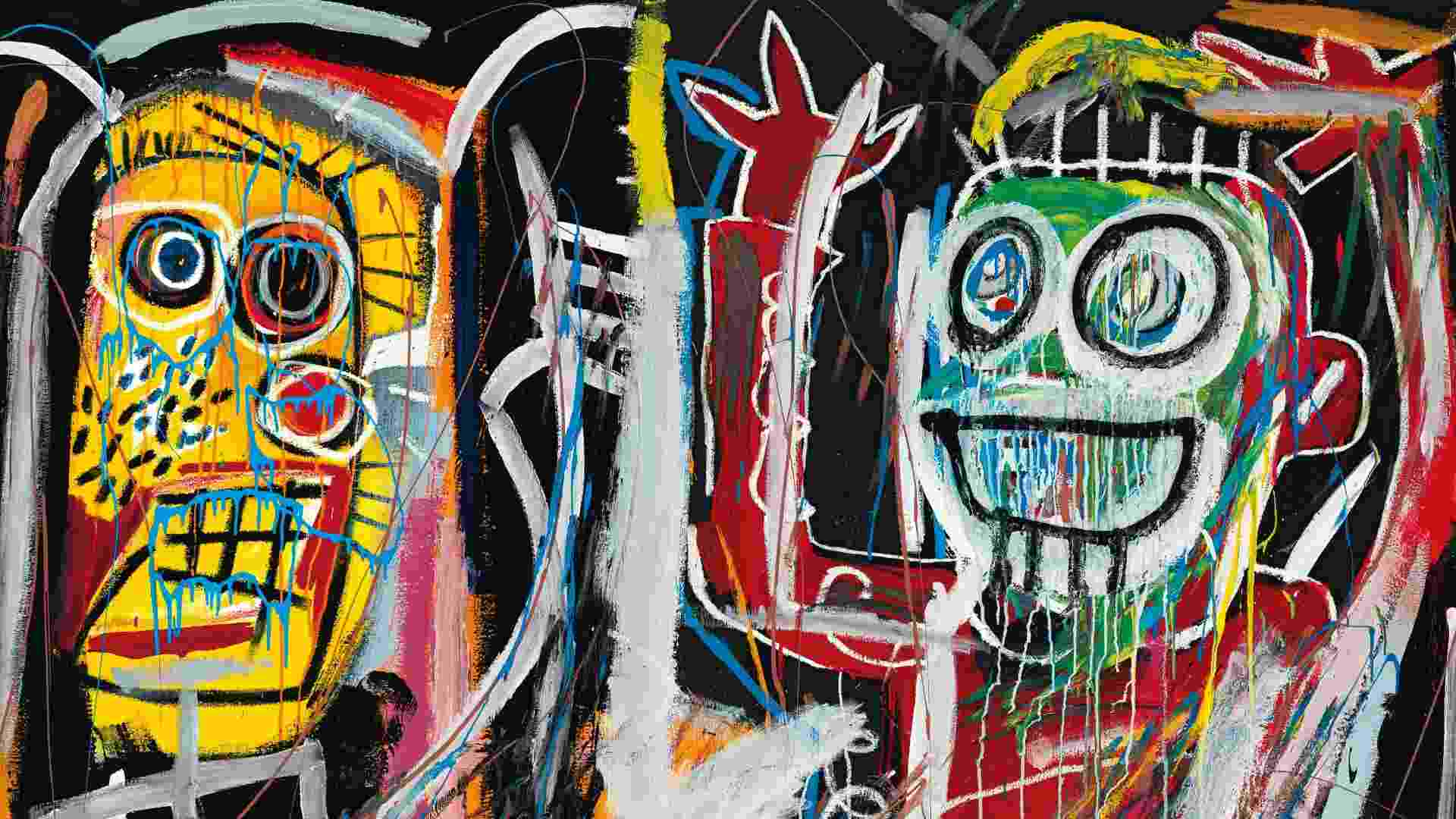 """16.mai.2013 - O outro recordista em leilão em Nova York foi um quadro de Jean-Michel Basquiat """"Dustheads"""", que foi arrematado por US$ 48,8 milhões, um valor que supera o recorde alcançado até então por uma obra deste artista nova-iorquino: US$ 26,4 milhões, alcançado em novembro de 2012. A venda de arte contemporânea da Christie's arrecadou US$ 495 milhões, maior valor na história dos leilões de arte - Christie's/EFE"""