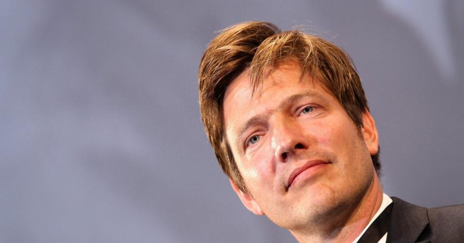 16.mai.2013 - O presidente do júri da mostra paralela Um Certo Olhar, Thomas Vinterberg, durante o 66º Festival de Cannes