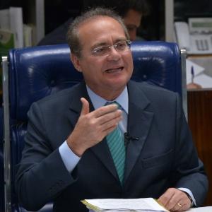 O senador Renan Calheiros, presidente do Senado, assume a Presidência da República com as viagens internacionais de Dilma, Temer e Henrique Alves - Wilson Dias/Agência Brasil