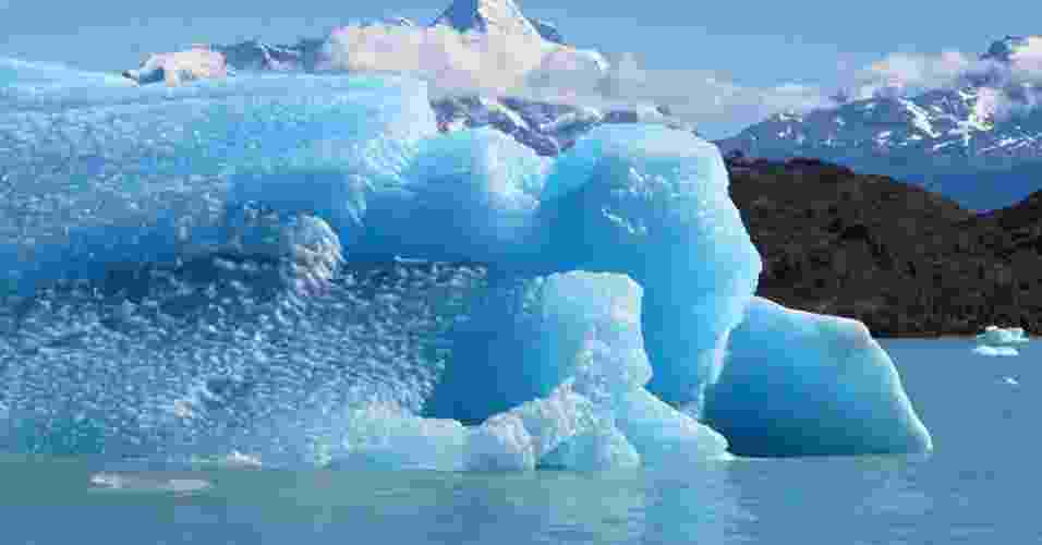 16.mai.2013- Na imagem, geleira Upsala, na Argentina Argentina - Etienne Berthier/Science