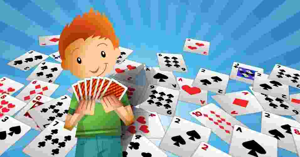 jogos com baralhos para se fazer com crianças - Rogério Doki/UOL