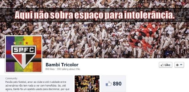 """Criadora da página """"Bambi Tricolor"""", do São Paulo, foi ameaçada pelo Facebook - Reprodução/Facebook"""