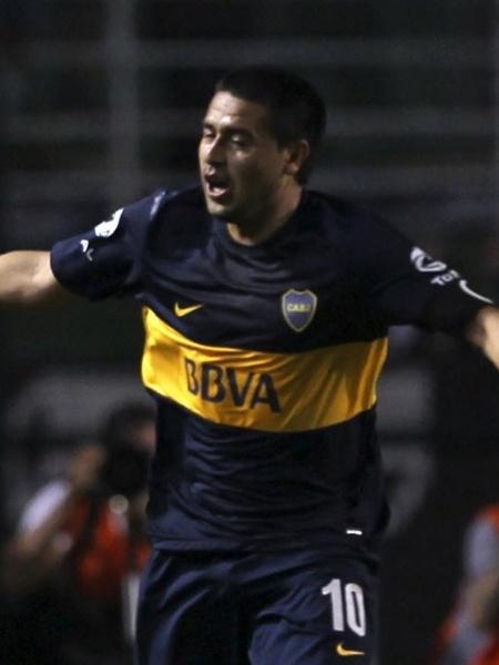 Riquelme atuou pelo Boca Juniors de 1996 e 2002 e de 2007 a 2014 - REUTERS/Paulo Whitaker