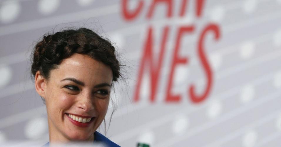 17.mai.2013 - A atriz franco-argentina Berenice Bejo durante coletiva de imprensa sobre o filme