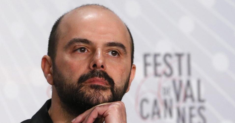 17.mai.2013 - O ator iraniano Ali Mosaffa, durante coletiva de imprensa do filme