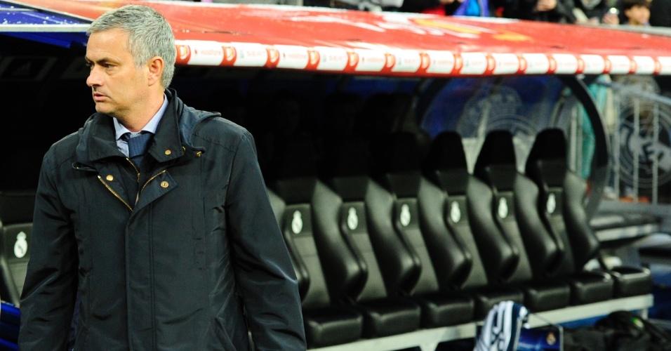 17.mai.2013 - Técnico José Mourinho naquele que pode ser seu último jogo pelo Real Madrid: a final da Copa do Rei, contra o Atlético de Madri