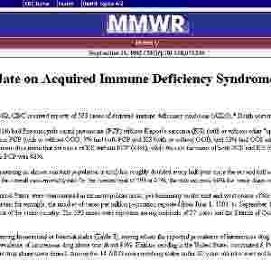 1982: O termo síndrome de imunodeficiência adquirida (Aids) é o CDC (Centro de Controle de Doenças dos EUA) divulga os modos de transmissão da doença: sanguínea, sexual e materno-infantil - Reprodução