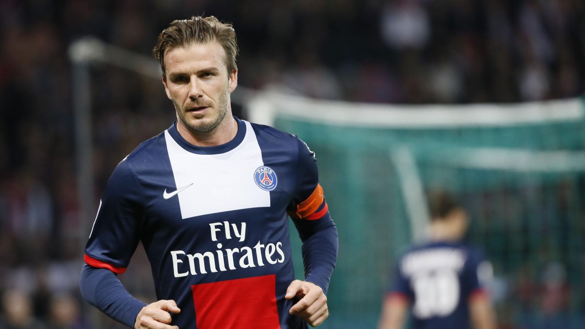 18.mai.2013 - Beckham foi capitão na partida contra o Brest, penúltima dele na carreira