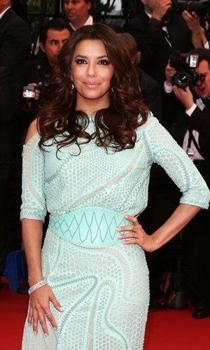 18.mai.2013 - Eva Langoria no Festival de Cannes
