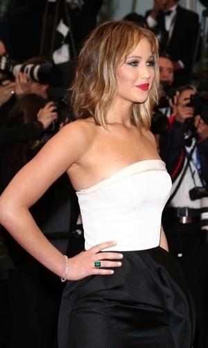 18.mai.2013 - Jennifer Lawrence no Festival de Cannes