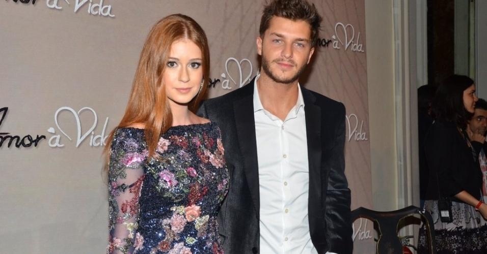 """18.mai.2013 - Klebber Toledo acompanha a namorada Marina Ruy Barbosa, que está no elenco da novela """"Amor à Vida"""""""
