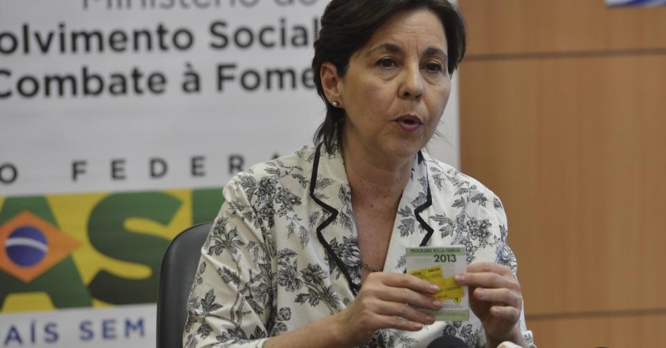 Em entrevista coletiva, a ministra do Desenvolvimento Social e Combate à Fome, Tereza Campello fala sobre o Bolsa Família