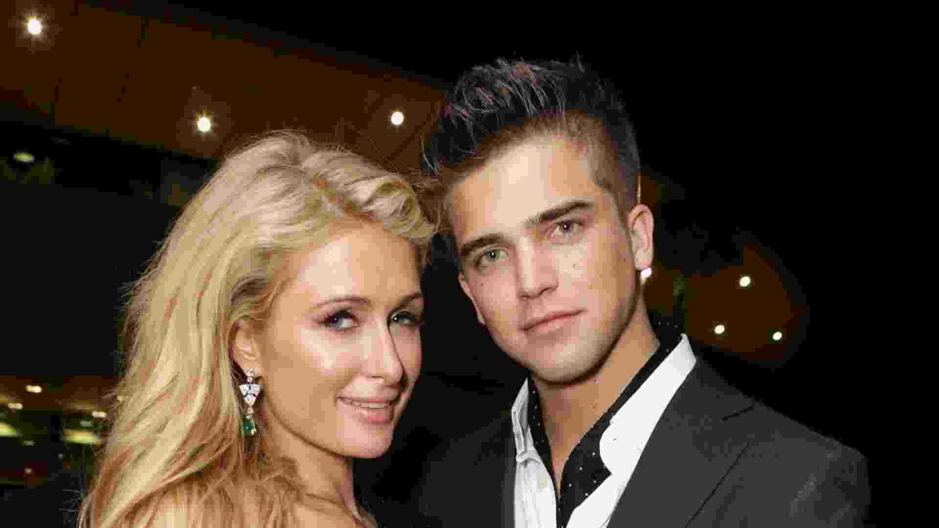 18.mai.2013 - Paris Hilton e o namorado, River Viiperi, vão a festa durante o Festival de Cannes - Tiffany Rose/Getty Images