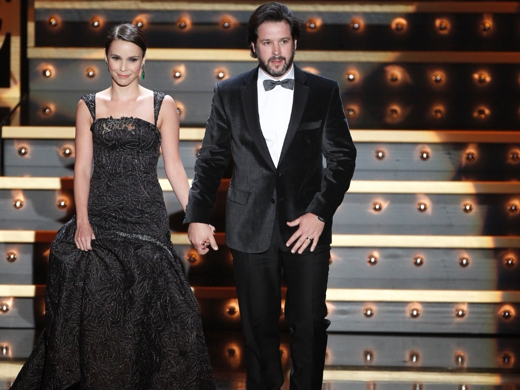 Débora Falabella e Murilo Benício participam do XVIII Globos de Ouro?, prêmio organizado pela emissora portuguesa SIC, em Lisboa