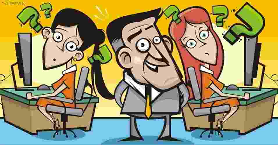 emprego; ambiente de trabalho; colega de trabalho; chefe - Stefan