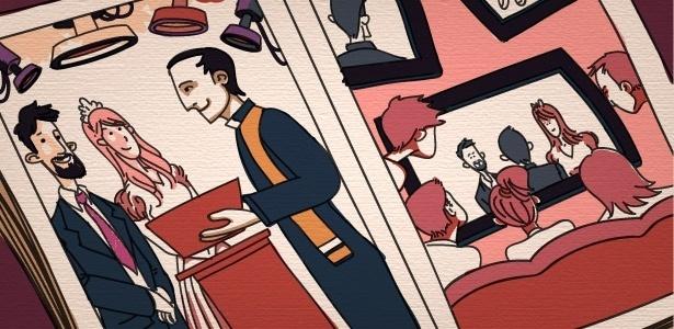 """Além de diminuir a distância entre pessoas queridas, a transmissão do casamento também é opção para quem optou por um """"mini wedding"""", mas que não quer deixar amigos e parentes - Victor Silva/Arte UOL"""