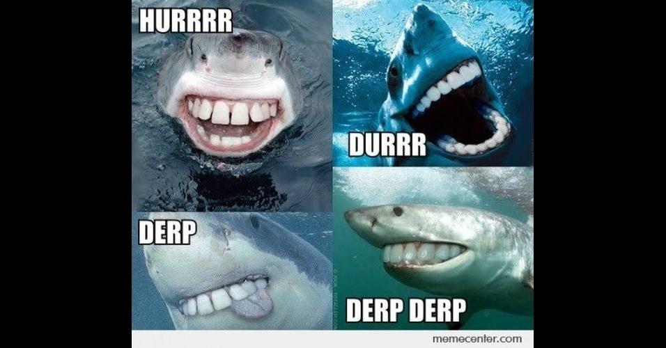 A modinha da web Shark Attack - Ataque de Tubarão - consiste em brincar com imagens de tubarões, fazendo montagens e colocando o bichano em diferentes cenários e posições