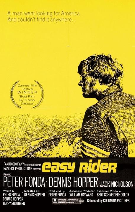 Easy Rider (indicado à Palma de Ouro em 1969) - Esses motoqueiros pirados queriam viajar sem destino pelas estradas americanas. Mas eles não esperavam que tiras estraga-prazeres iriam manda-los direto para a cadeia. Agora, eles vão ter que se virar para continuar essa emocionante aventura. Com Jack Nicholson, Easy Rider ? Sem Destino