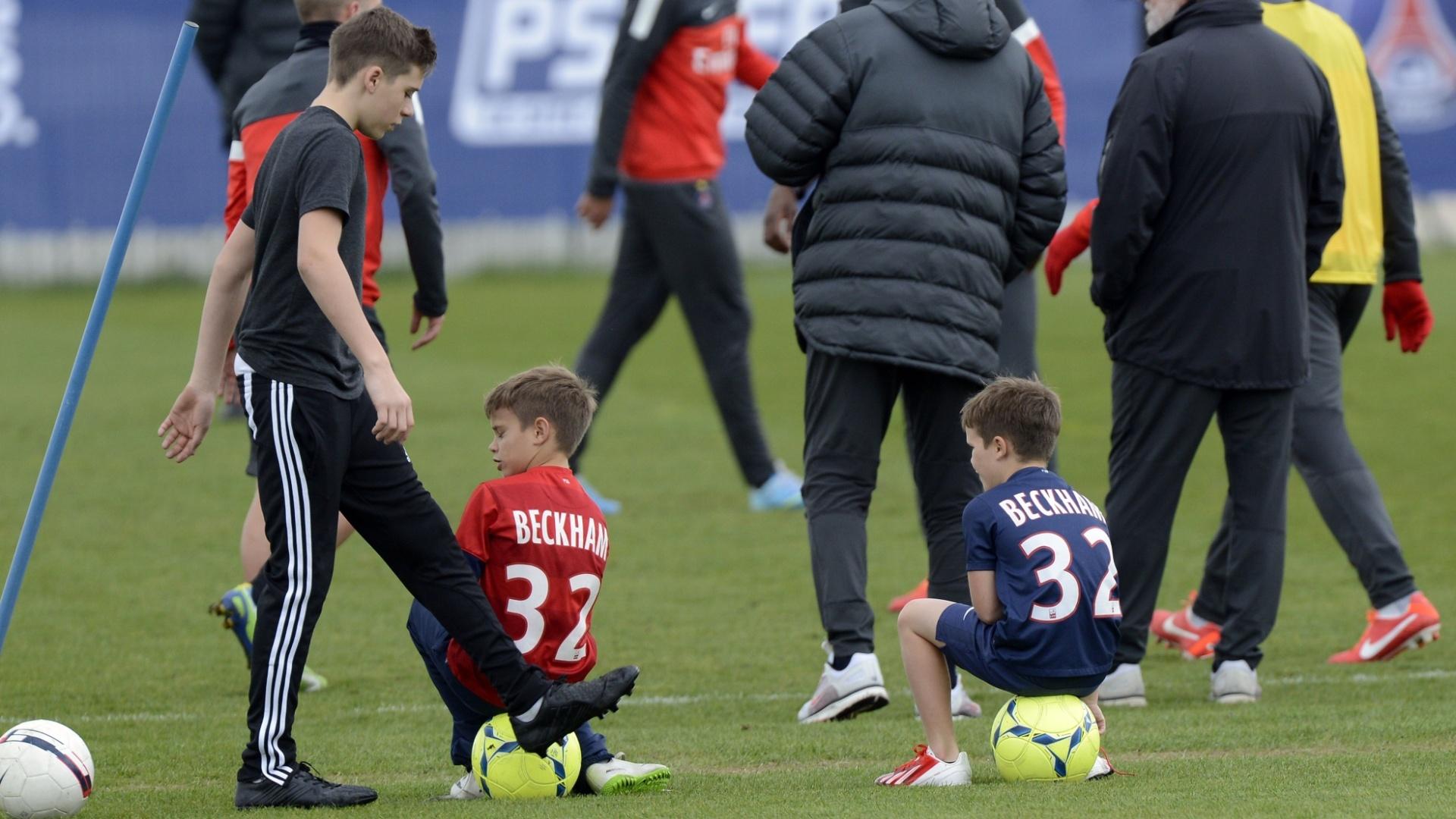 Família Beckham em campo