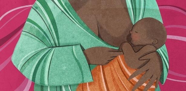 A criatura já andava, falava, comia picanha e seguia mamando no peito da mãe