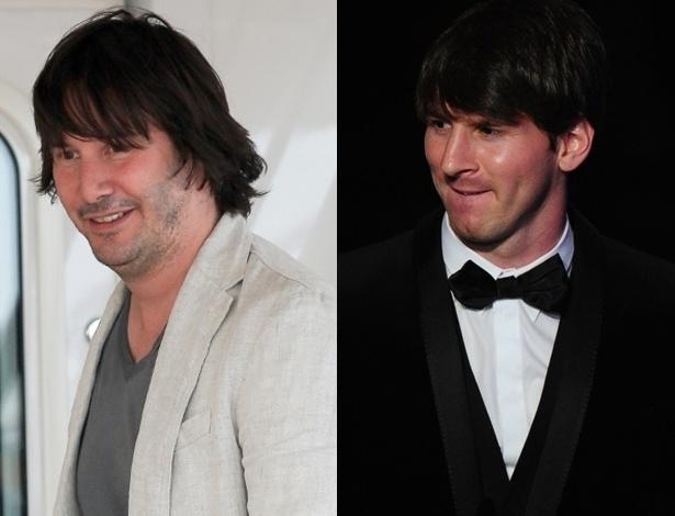 Keanu Reeves e Lionel Messi