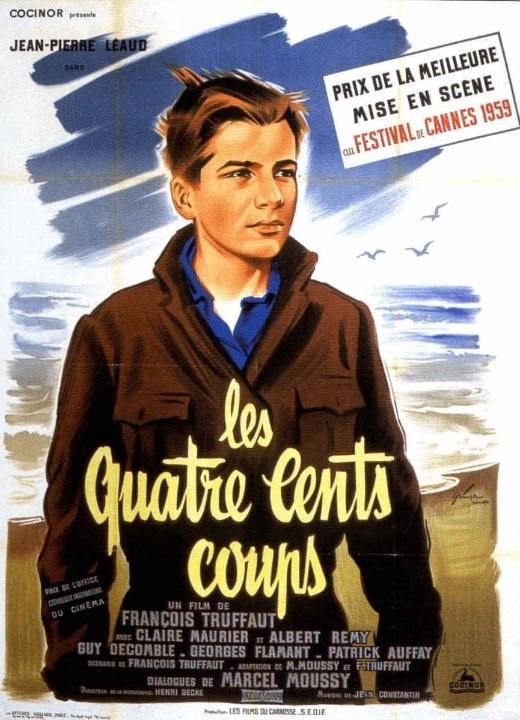 Os Incompreendidos (indicado à Palma de Ouro em 1959) - Esse pestinha não tem a menor paciência para a escola e vai tentar de tudo para escapar de seus sádicos professores. Só que seus pais não vão gostar nem um pouco disso. Agora, esse moleque endiabrado vai aprontar altas confusões pelas ruas de Paris. De François Truffaut, Os Incompreendidos