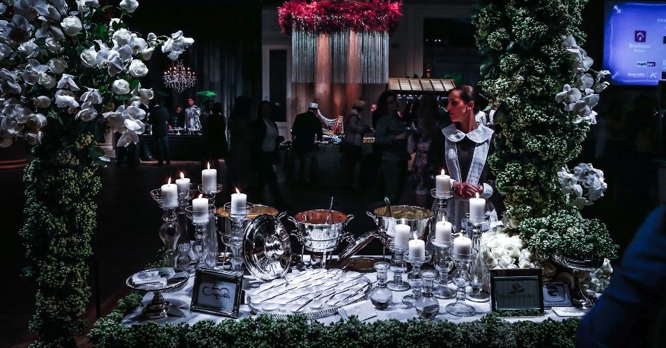 21.mai.2013 - Degustar 2013: mesa do Capristor Buffet com decoração de Beatrís de Michelli