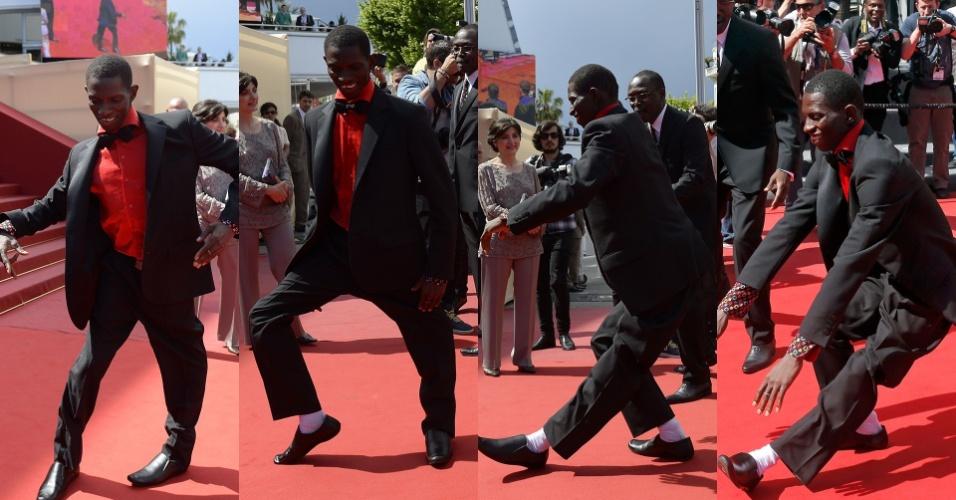 22.mai.2013 - O ator e dançarino burquinense Souleymane Démé, do filme