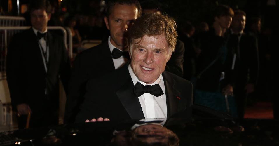 22.mai.2013 - O ator e diretor Robert Redford após sessão de