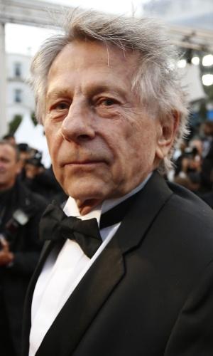 22.mai.2013 - O diretor franco-polonês Roman Polanski chega para sessão especial de