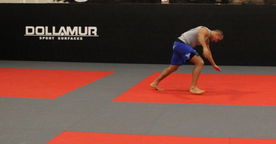 Cigano usou o espaço da academia Syndicate MMA para fazer seus últimos treinos antes da luta contra Mark Hunt