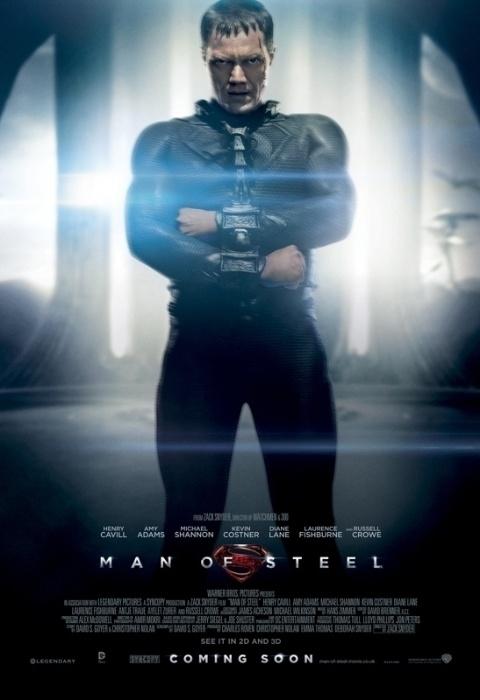 General Zod (Michael Shannon) em pôster de O Homem de Aço