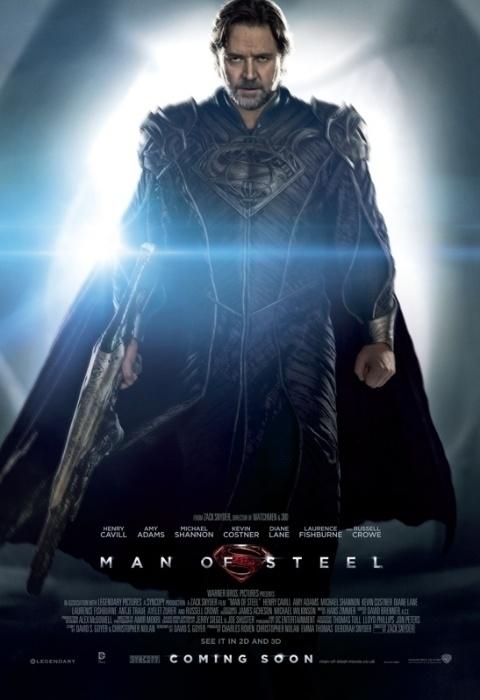 Jor-El (Russell Crowe) em pôster de