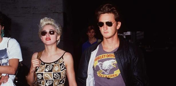 Madonna e Sean Penn em 1986, quando estavam casados - Getty Images