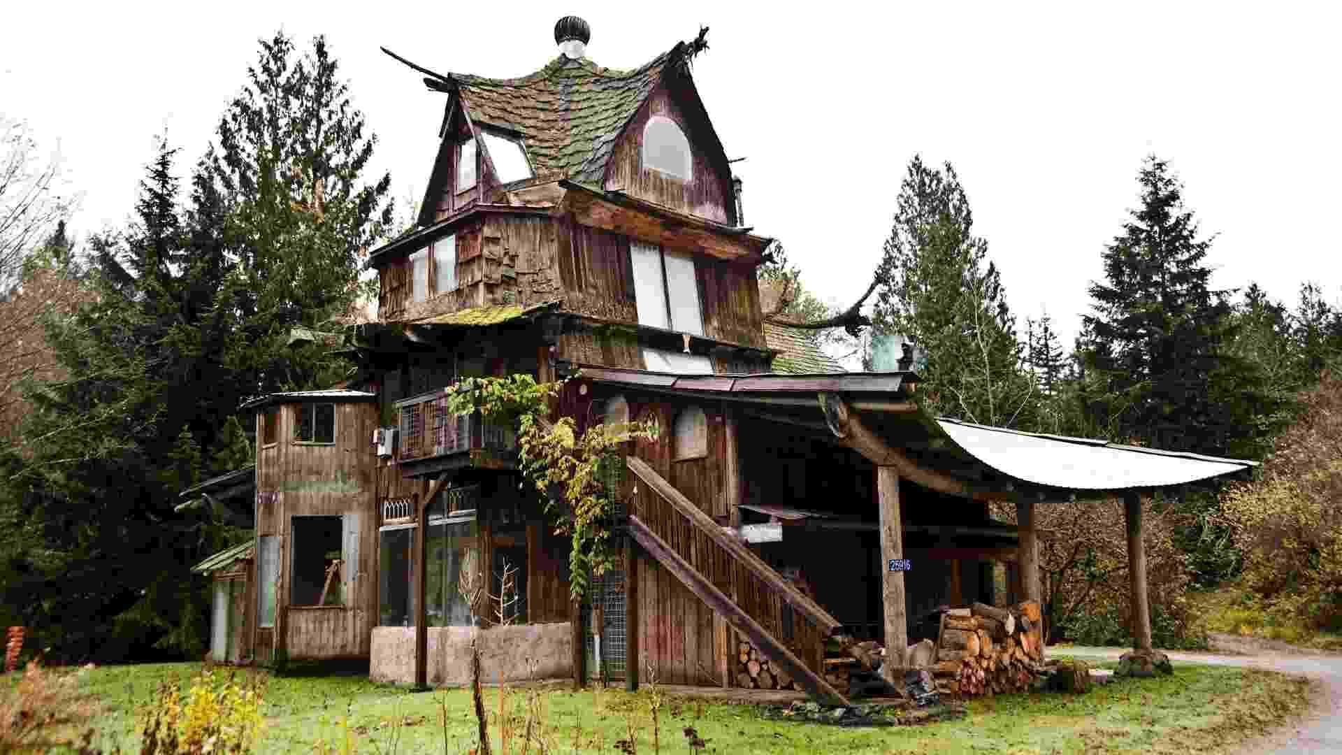 """Até 1998, SunRay Kelley vivia na chamada Sky House, também construída por ele, mas foi """"chutado para fora"""" pela ex-mulher (Imagem do NYT, usar apenas no respectivo material) - Randy Harris/ The New York Times"""