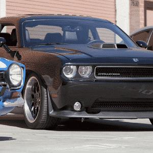 """Ford Escort 1978, Dodge Challenger 2010 e  de """"Velozes e Furiosos 6"""" - Divulgação"""