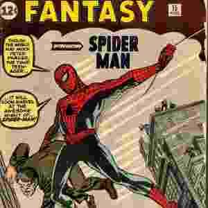 """""""Amazing Fantasy # 15"""" - A revista da Marvel que introduziu o personagem Peter Parker, o Spiderman, em agosto de 62 é avaliada em US$ 407 mil - Divulgação"""