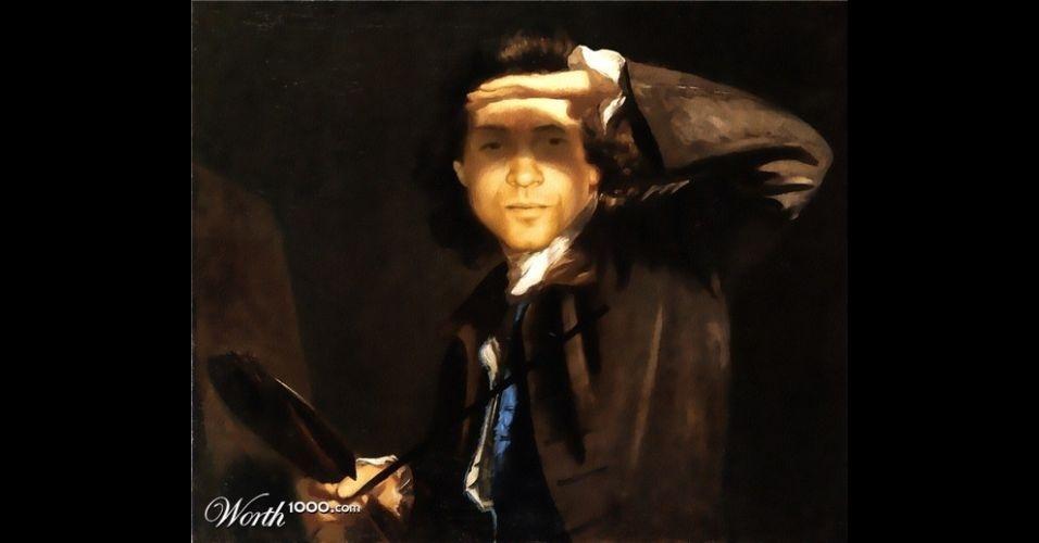 Na imagem, o cantor Bon Jovi. O site Worth 1000 reúne imagens de celebridades que foram transformadas em pinturas antigas usando editores de imagens