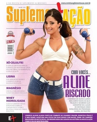 Aline Riscado - bailarina do Faustão - capa da Suplementação de junho
