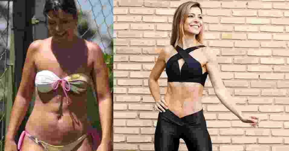 Montagem - antes e depois Mariana Oliveira - Arquivo pessoal