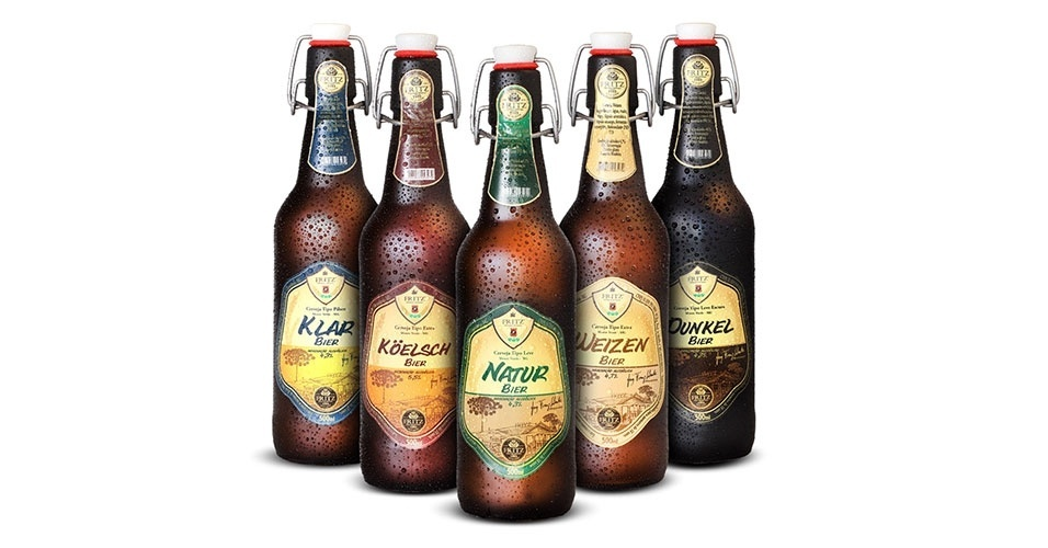 Cinco rótulos da Cervejaria Artesanal Fritz