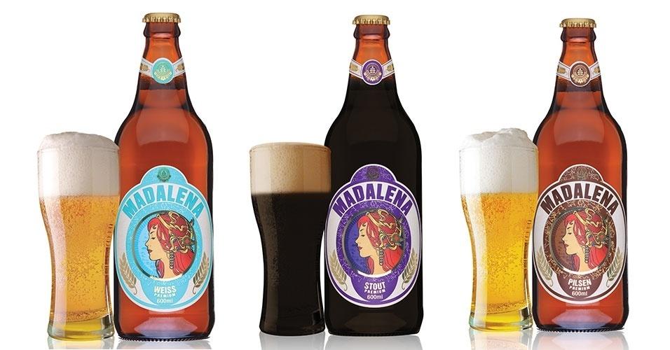 Madalena Pilsen, Weiss e Stout, da Cervejaria Premium Paulista